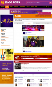 Find all social media feeds for Aladdin and its cast on www.stagefaves.com