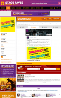 Find social feeds for Groundhog Day and its cast on www.stagefaves.com