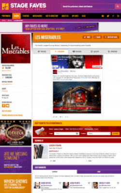 Find all social media feeds for Les Miserables and its cast - past and present - on www.stagefaves.com