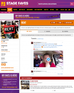 Find social media for Rent & all its cast on www.stagefaves.com
