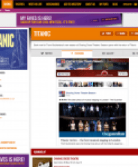 Find all social media for Titanic and its cast on www.stagefaves.com