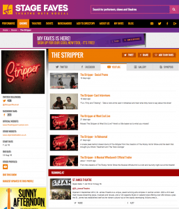 Get all social media feeds for The Stripper and its cast on www.stagefaves.com