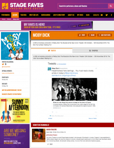 Get all social media for Moby Dick! & Side Show on www.stagefaves.com