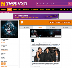 Get all social media for 27 & its cast on www.stagefaves.com