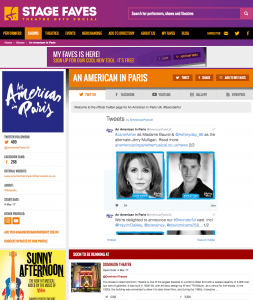 Get all social media for AN AMERICAN IN PARIS & its cast on www.stagefaves.com