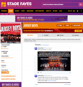 Get all social media for JERSEY BOYS & its cast on www.stagefaves.com