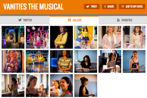 Get all social media - & pics - for VANITIES & its cast on www.stagefaves.com