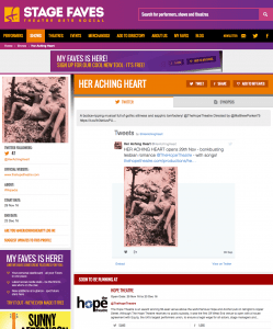 Get all social media for HER ACHING HEART & the Hope Theatre on www.stagefaves.com