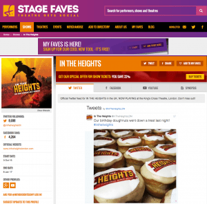 Get all social media for IN THE HEIGHTS & its cast on www.stagefaves.com