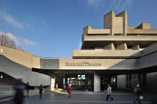 The National Theatre on London's South Bank