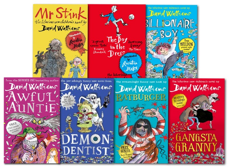 Since 2008, David Walliams has written more than a 20 books for children