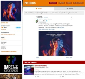 Get all social media for Preludes & its cast on www.stagefaves.com