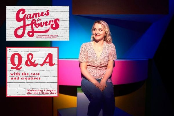 Evanna Lynch takes part in the Games for Lovers post-show Q&A chaired by Terri Paddock