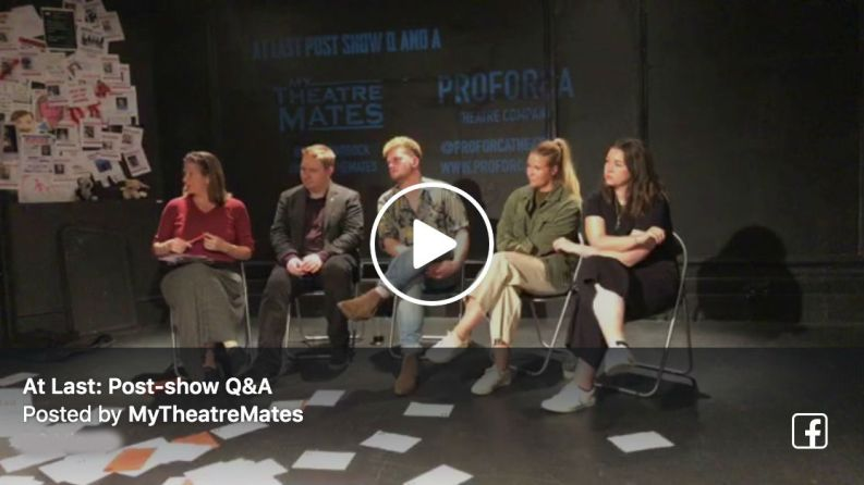Watch Terri Paddock's post-show Q&A at Proforca Theatre's At Last at London's Lion & Unicorn Theatre