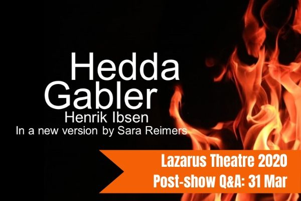 Join Terri Paddock for Hedda Gabler's post-show Q&A at London's Greenwich Theatre on 31 March 2019