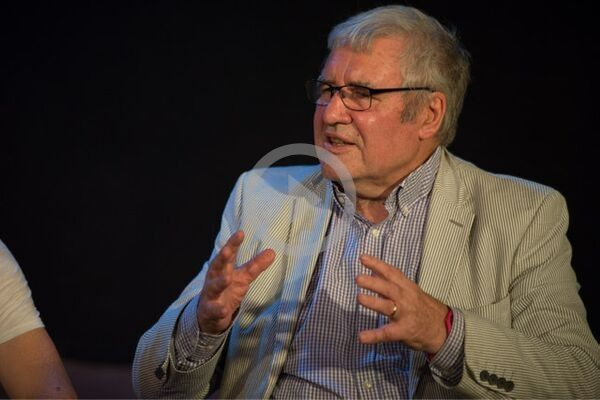 Peter Hamilton at the Danelaw post-show Q&A chaired by Terri Paddock at London's Old Red Lion Theatre on 21 Sep 2019. © Peter Jones