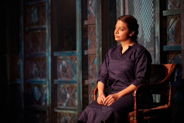 Ayesha Dharker in When the Crows Visit at the Kiln Theatre, London
