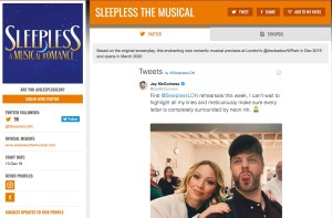 Get social for SLEEPLESS & its cast on www.stagefaves.com
