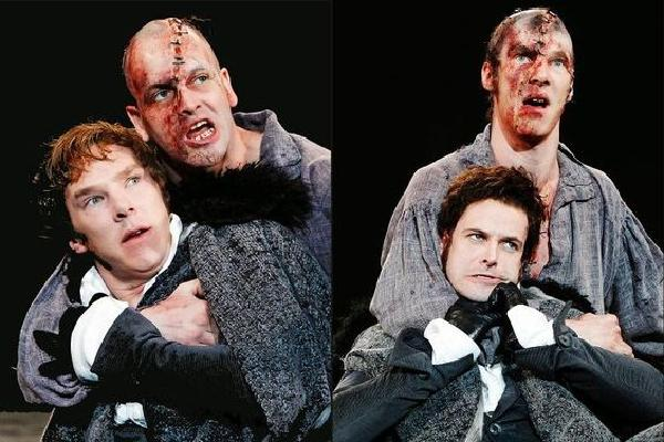 Benedict Cumberbatch & Jonny Lee Miller in Frankenstein at the National Theatre