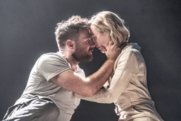 James McArdle and Saoirse Ronan in The Tragedy of Macbeth at the Almeida Theatre