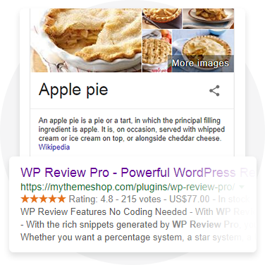 Support for 14 Types of Rich Snippets