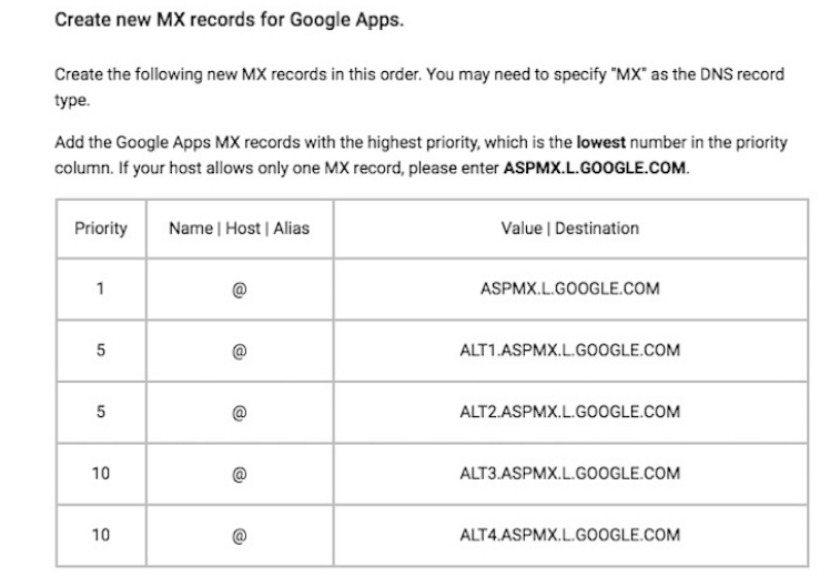 google-apps-mx-entries