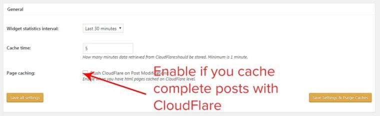 cloudflare general settings