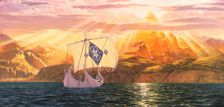 The Shores of Valinor, by Ted Nasmith