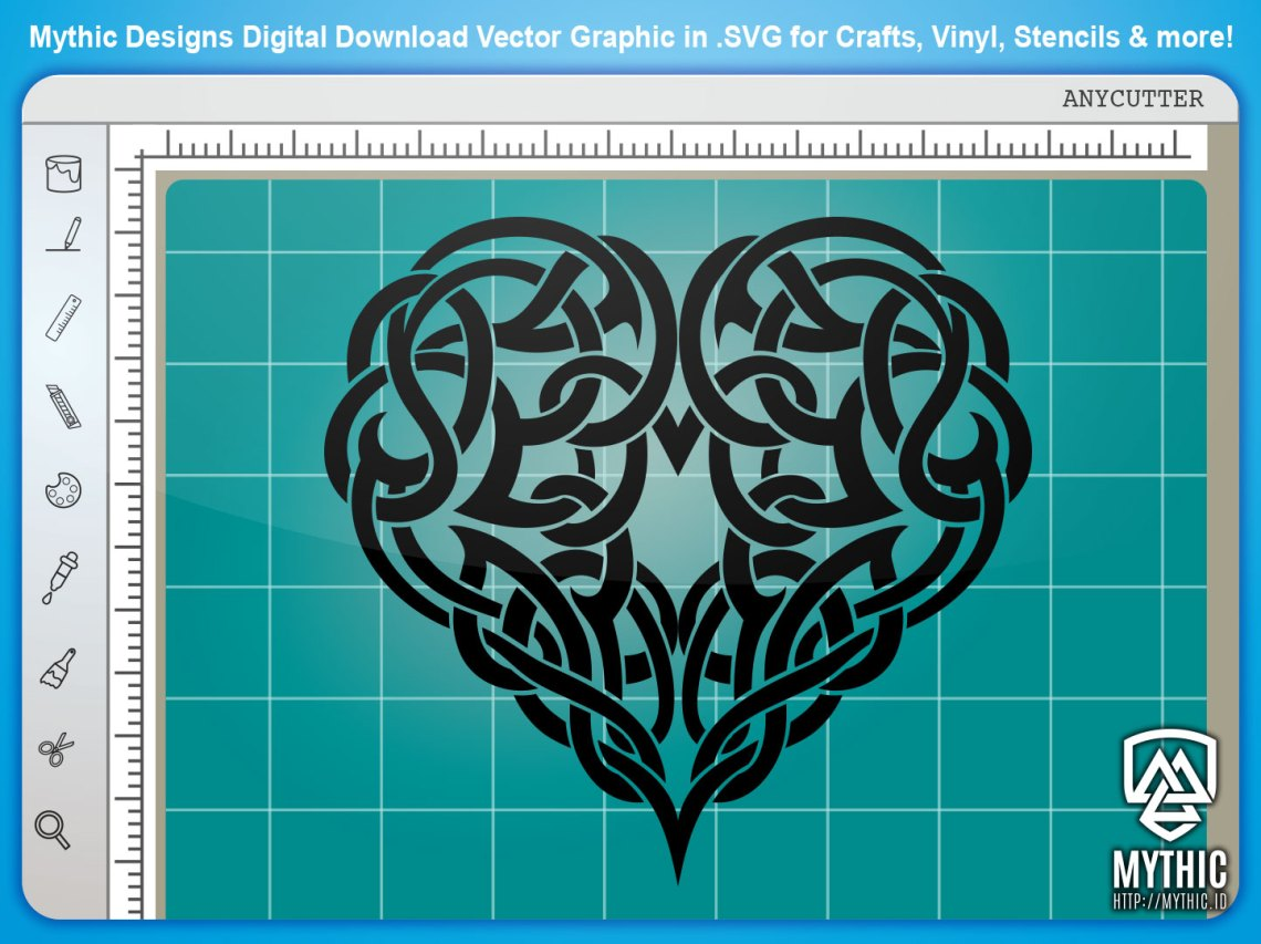 Download Celtic Knot 003 - Celtic Heart Vector Graphic SVG - MYTHIC