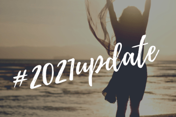 Image of a woman by the beach in sunlight with text overlay that reads 2021 Update