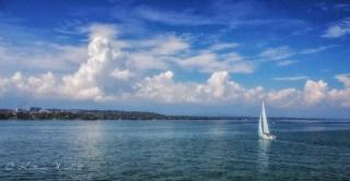 Sailboat on Lake Geneva