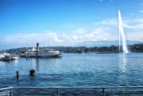 Jet d'eau and Geneva harbour