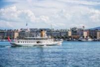 Paddlewheeler Savoie in Geneva harbour