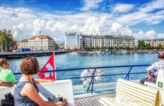 Geneva's right bank from cruiseboat