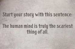 writing prompt 1 human mind