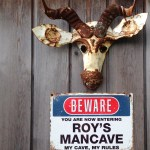 A sign for a man cave