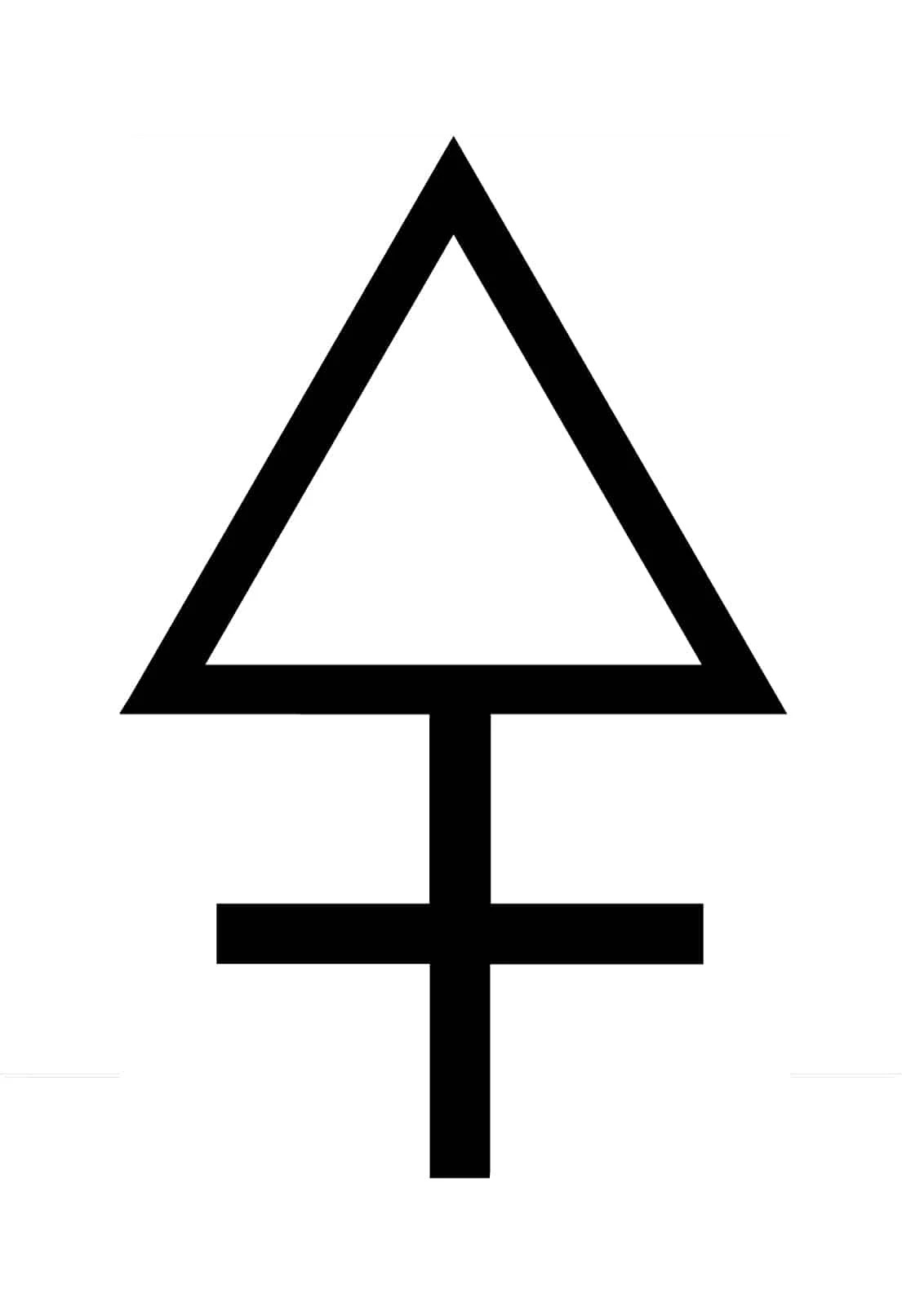 Symbol Triangle With Open Bottom