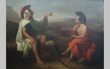 Image result for Ancient Greek Odysseus and telemachus