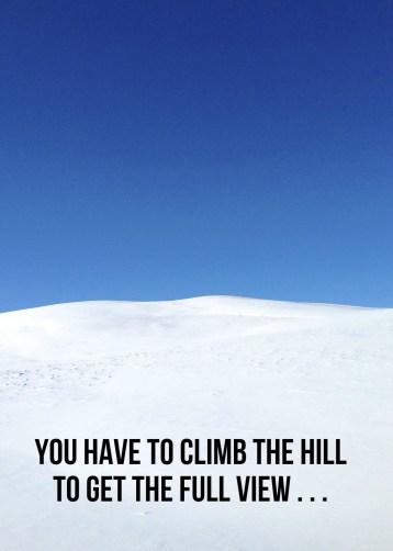 Climb the hill