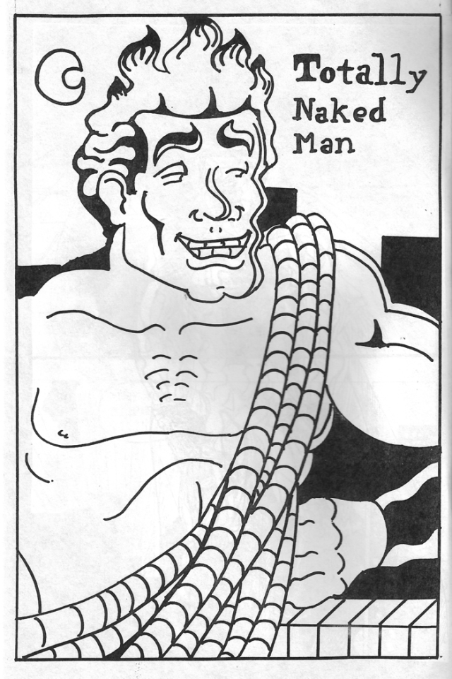 The first Totally Naked Man illustration, by Illya King