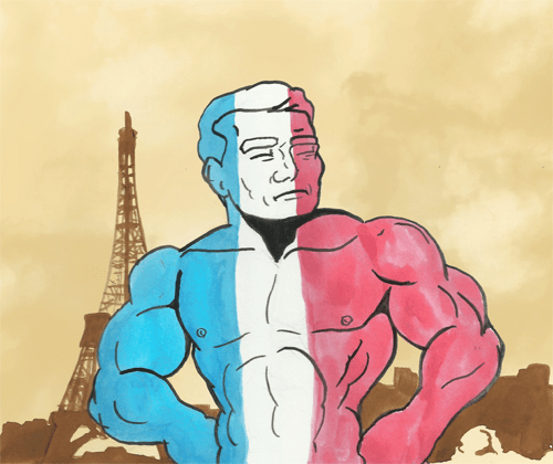 Tribute to the Paris shooting featuring Totally Naked Man