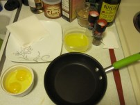 Mise en Place for Eggs Over Easy
