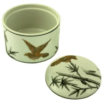 ceramic decorative round box