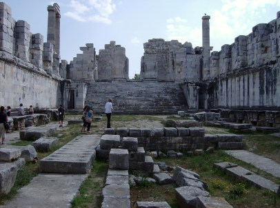 Inside the Temple of Apollo at Didyma (Miletus). Photo by Alison Innes.