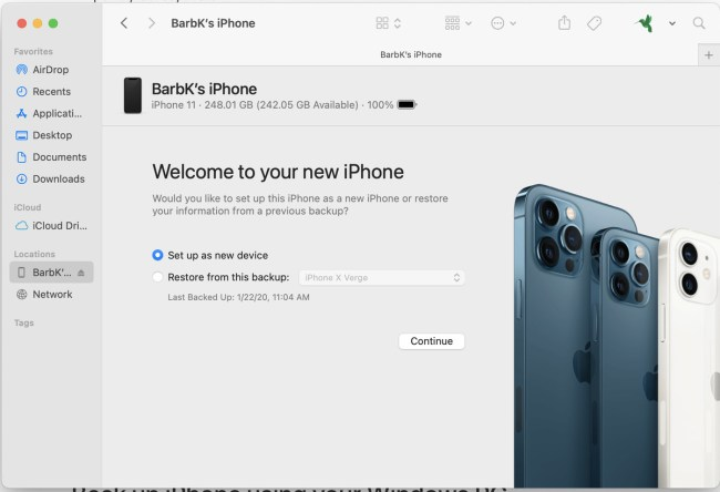 You can restore a phone's data if you've backed it up on your computer.