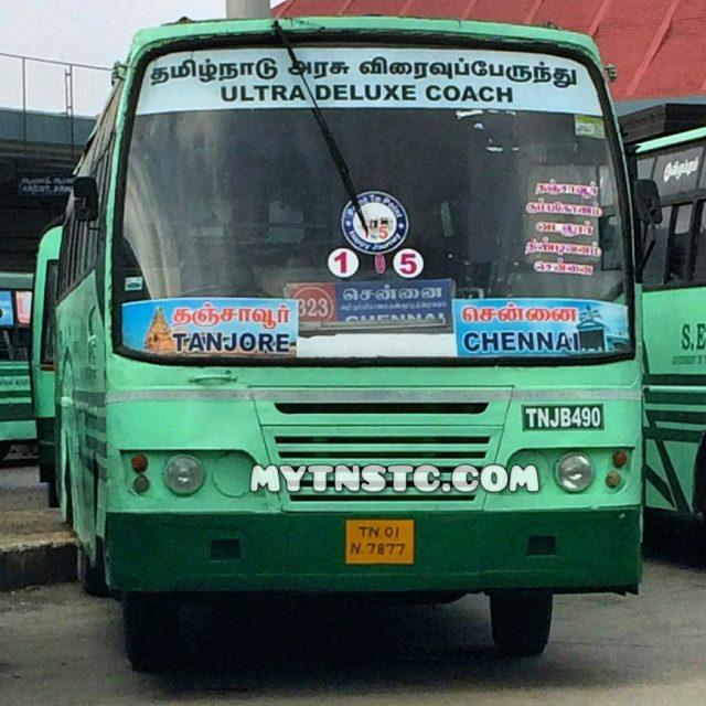 Thanjavur to Chennai Non AC Ultra Deluxe Coach TN01 N7877