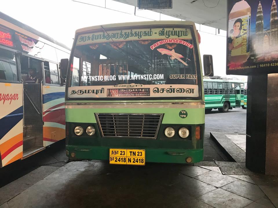 Chennai To Dharmapuri TNSTC Express MY TNSTC BLOG