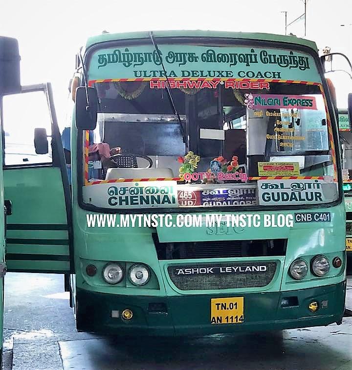 Chennai Gudalur SETC Bus Service