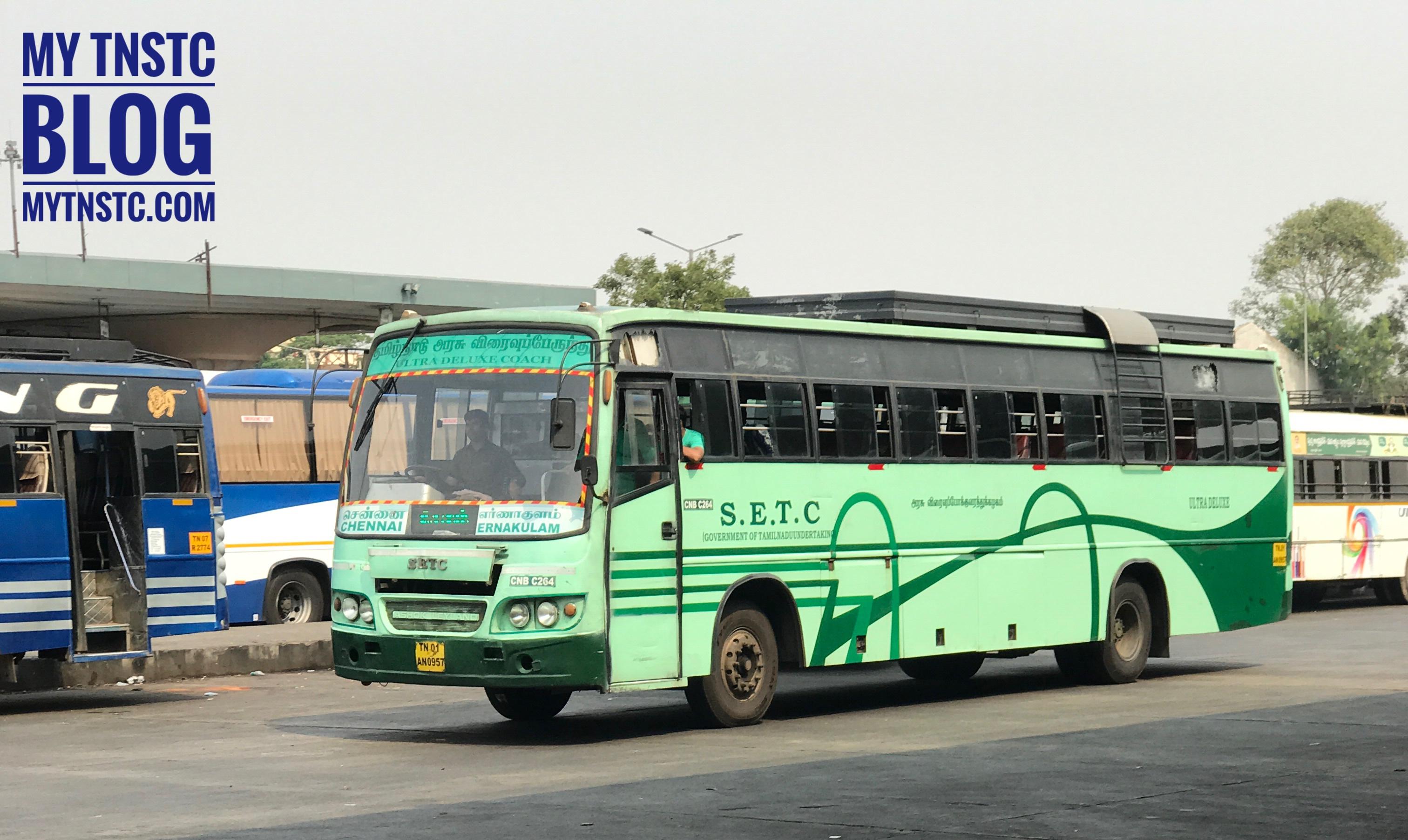Velankanni To Ernakulam SETC Bus Service Timing Information 770UD