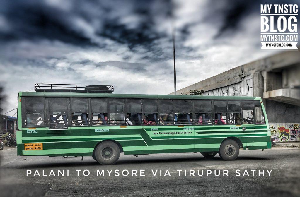Salem to Mysore TNSTC Bus Timings